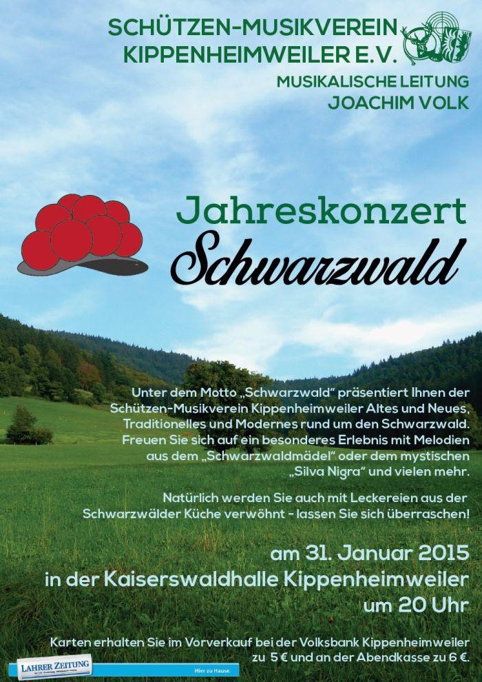 Jahreskonzert 2015, Motto: Schwarzwald