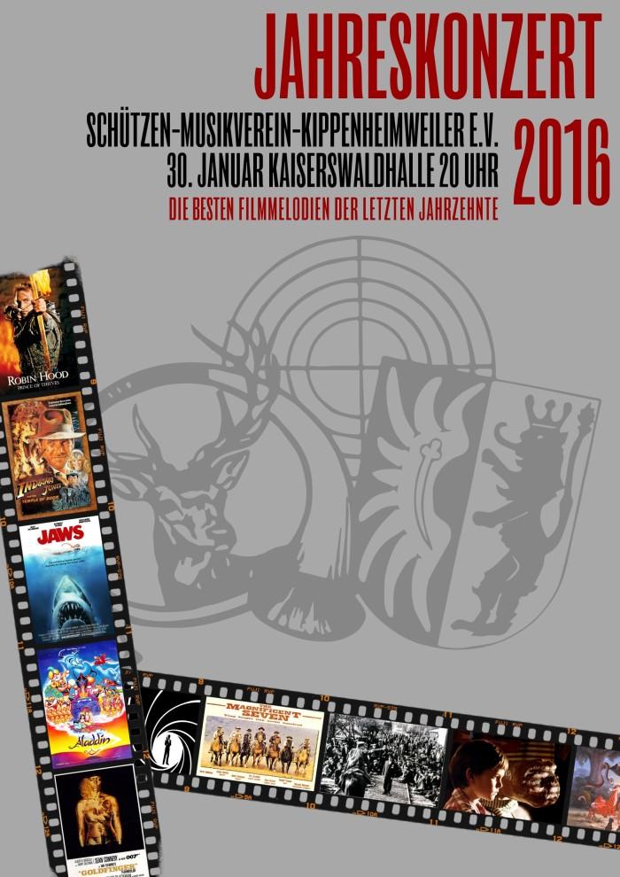 Jahreskonzert 2016, Motto: Die besten Filmmelodien der letzten Jahrzehnte