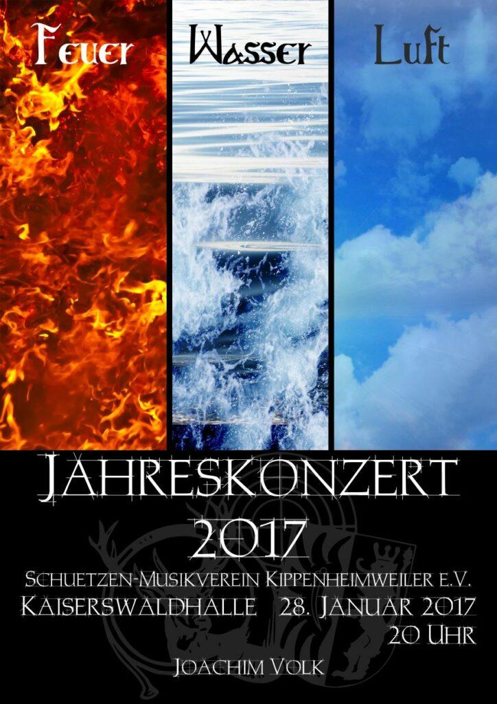 Jahreskonzert 2017, Motto: Feuer, Wasser, Luft