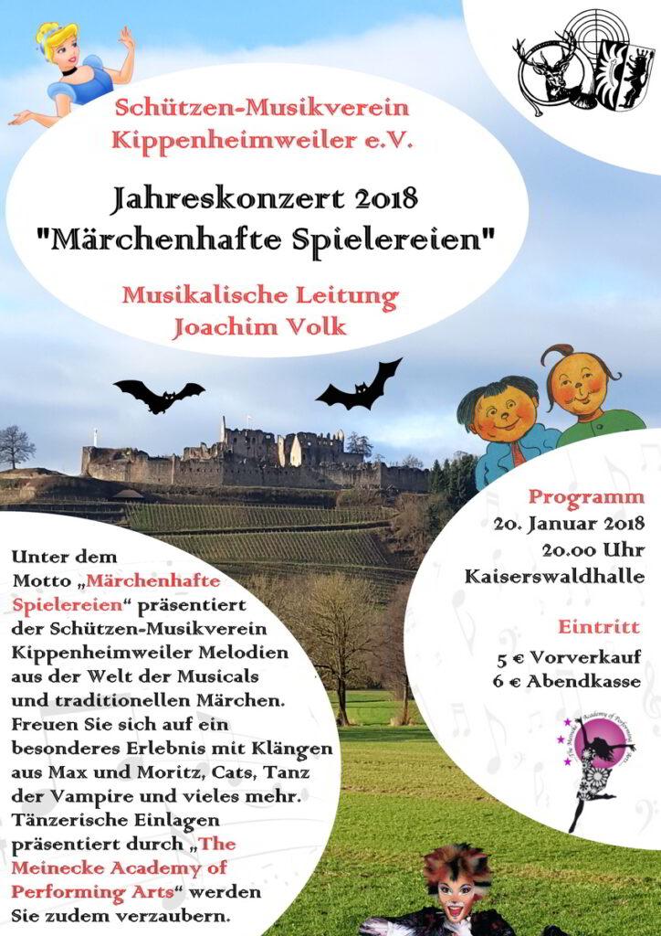 Jahreskonzert 2018, Motto: Märchenhafte Spielereien